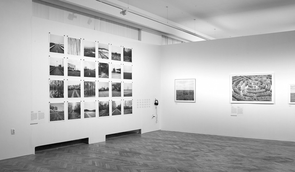 Borders I. (2013) exhibited at Jozsef Pecsi Grant group exhibition. 24 x 50x50cm prints, unframed, 9 interviews (audio) and 1x 80x80 cm print.